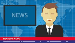 news anchor men headline tv