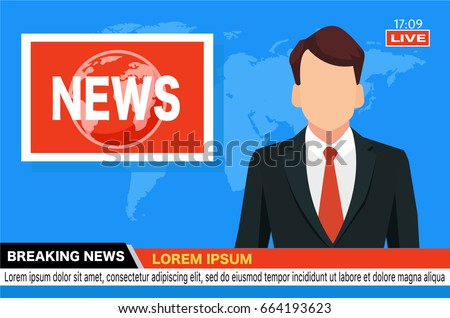 news anchor on tv breaking news