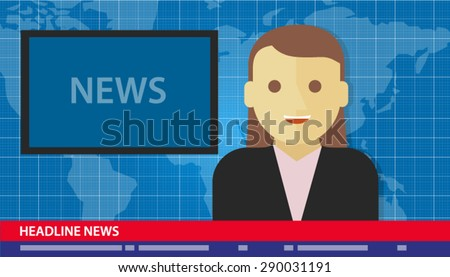 news anchor woman headline tv
