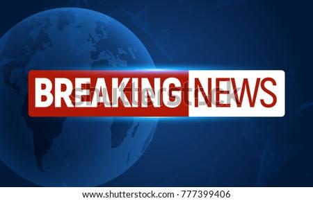 Blue Breaking News Tv Background Download Free Vector Art Stock