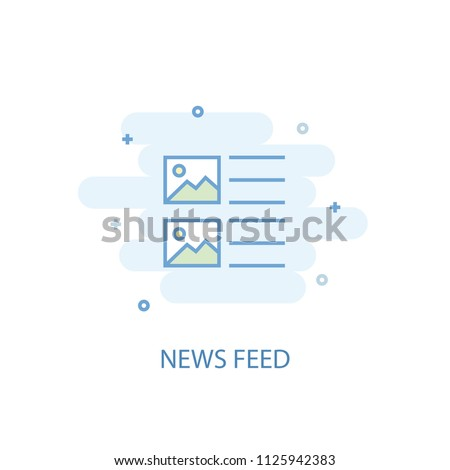 News Feed trendy icon. Simple line, colored illustration. News Feed symbol flat design from Social Media Marketing set. Can be used for UI/UX