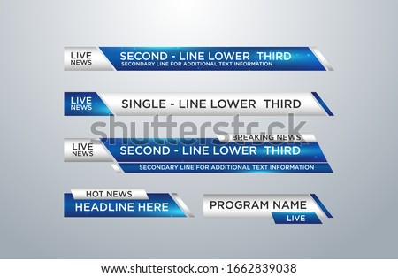News lower thirds pack vector Foto d'archivio ©