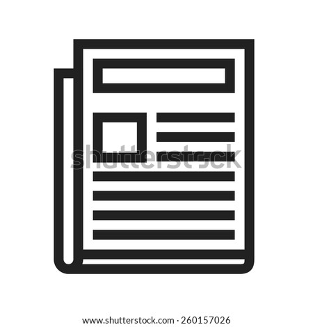 News Paper vector image to be used in web applications, mobile applications and print media.