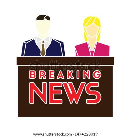news studio icon. flat illustration of news studio vector icon. news studio sign symbol