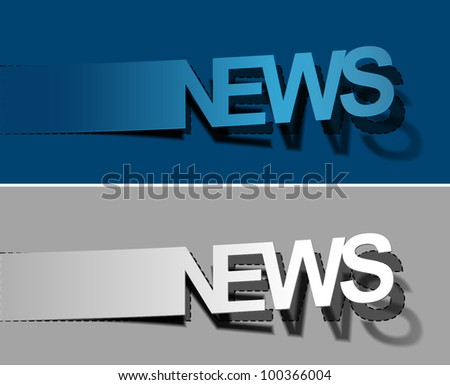 News vector sticker & label for text design.