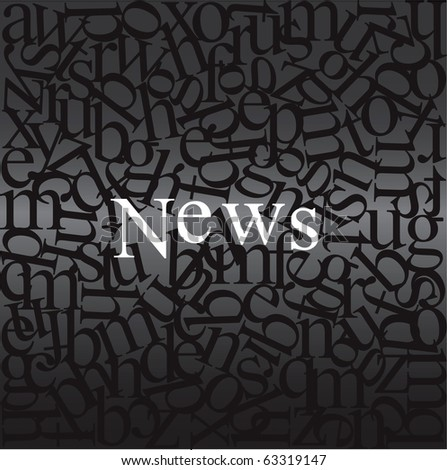 News written on abstract background