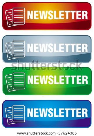 Newsletter icon with abstract letter symbol and text