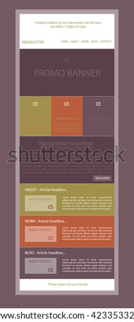 newsletter template for business or non profit organization ez canvas