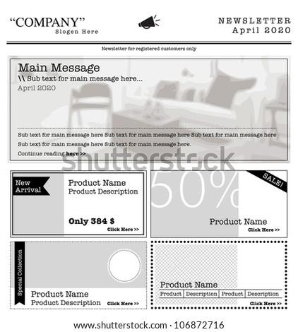newsletter template internet
