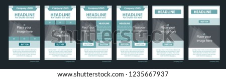 Newsletter vector layout template for business or non-profit organization