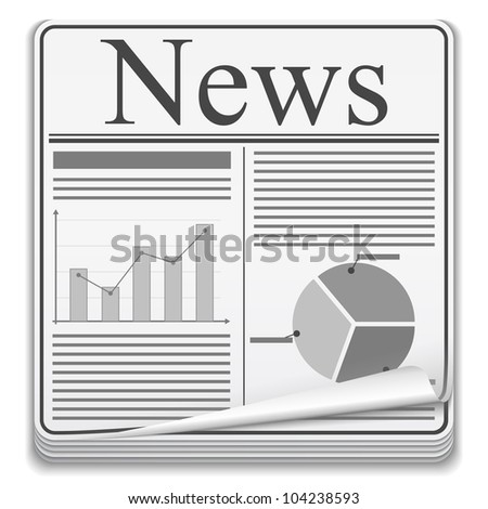 Newspaper Icon, vector eps10 illustration