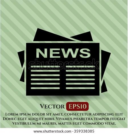 Newspaper icon vector illustration