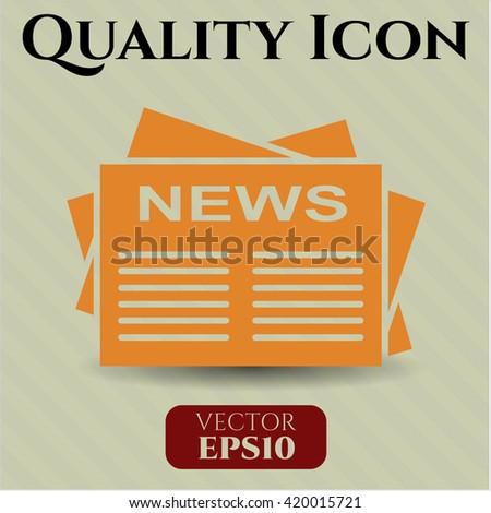 newspaper icon vector symbol flat eps jpg app web concept