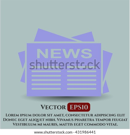 newspaper icon vector symbol flat eps jpg app web concept