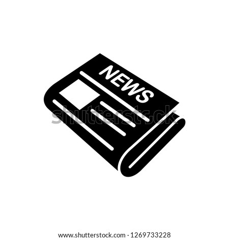 newspaper icon vector template