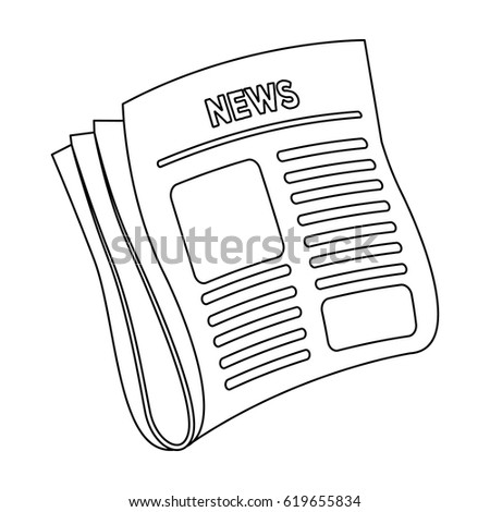 Newspaper, news.Paper, for the cover of a detective who is investigating the case.Detective single icon in outline style vector symbol stock illustration.