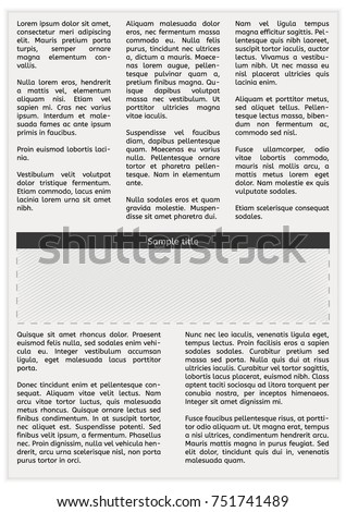 newspaper page with lorem ipsum