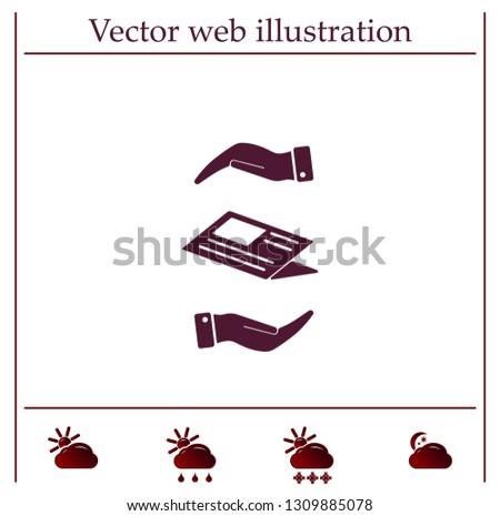 Newspaper, press, news vector icon.