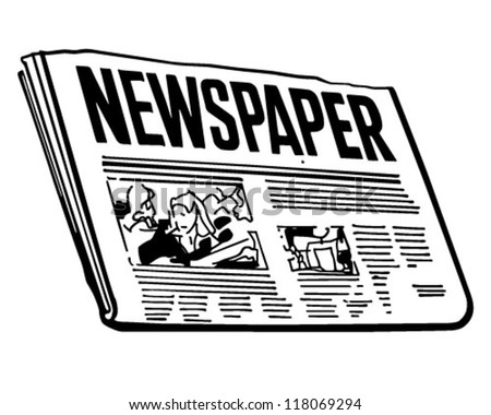 Newspaper - Retro Clipart Illustration