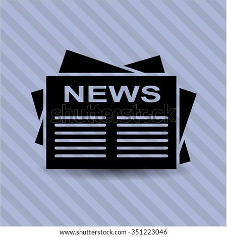 Newspaper vector symbol