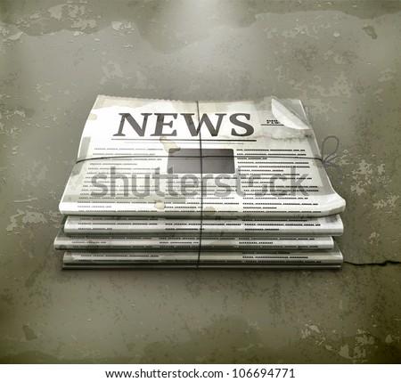 Newspsper, old-style vector