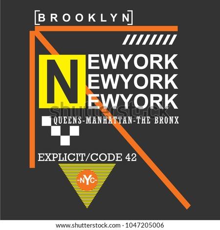 newyork typography design  t