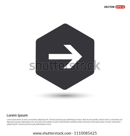 Next Arrow Icon Hexa White Background icon template - Free vector icon