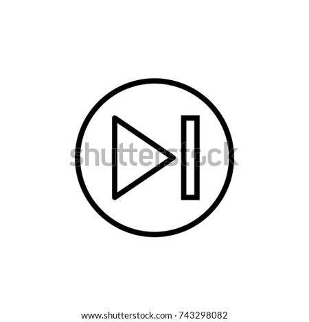 Next Arrow, Next icon vector, in trendy flat style isolated on white background. Next icon image, Next icon illustration