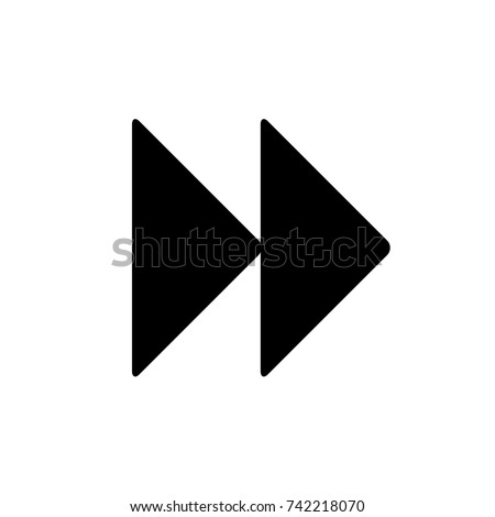 next button media menu, next icon vector, in trendy flat style isolated on white background. next icon image, next icon illustration