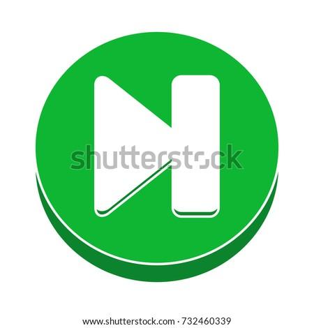 next control button flat icon