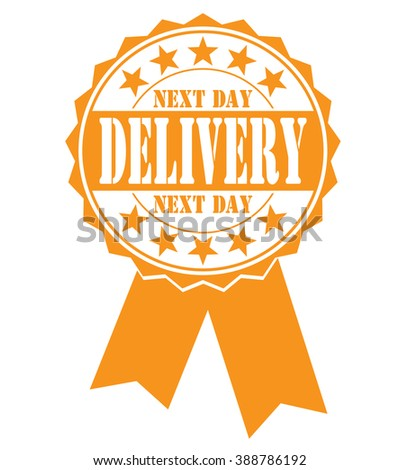 next day delivery icon on a white, vector illustration