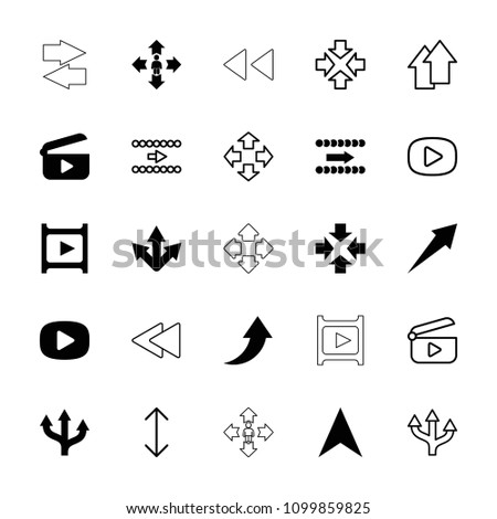Next icon. collection of 25 next filled and outline icons such as move, navigation arrow, arrow, play, play back, arrow up. editable next icons for web and mobile.