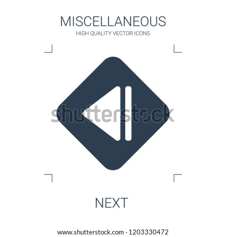 next icon. high quality filled next icon on white background. from miscellaneous collection flat trendy vector next symbol. use for web and mobile