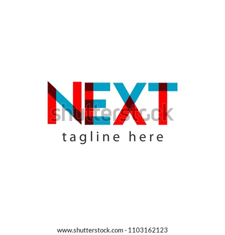 Next Logo Letter Vector Template Design Illustration