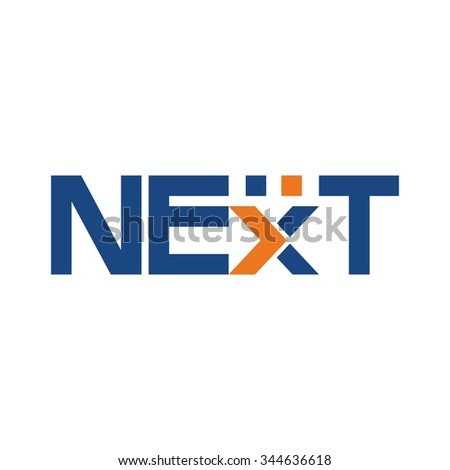 next logotype. logo vector.