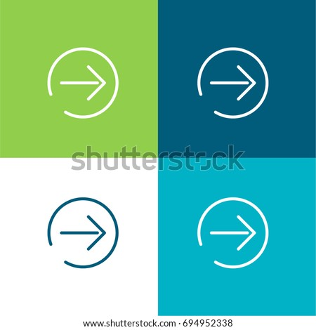 Next Page green and blue material color minimal icon or logo design