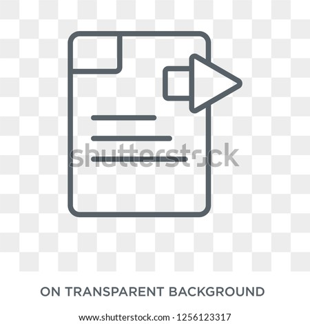 Next Page icon. Next Page design concept from User interface collection. Simple element vector illustration on transparent background.