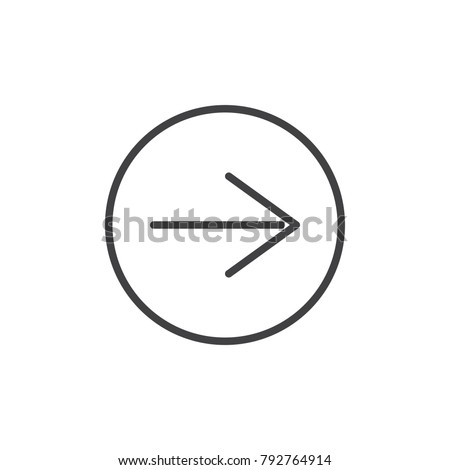 Next page line icon, outline vector sign, linear style pictogram isolated on white. Arrow right symbol, logo illustration. Editable stroke