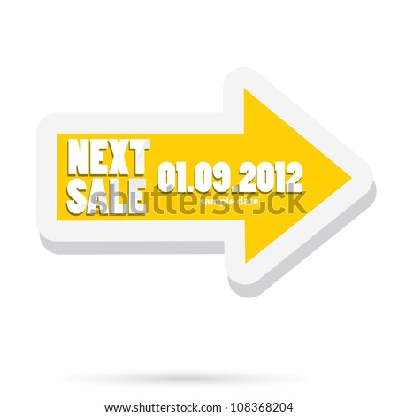 next sale image. vector sale banner. vector speech bubble.