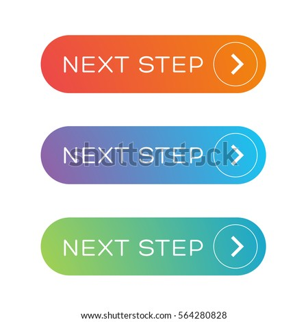 Next step colorful button set