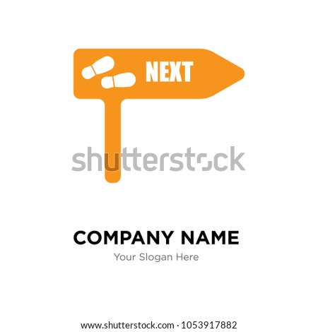 next steps company logo design template, Business corporate vector icon