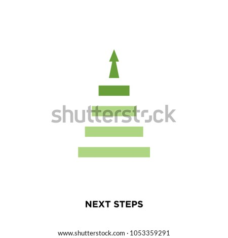 next steps icon isolated on white background for your web, mobile and app design