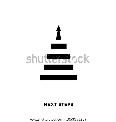 next steps icon isolated on white background for your web, mobile and app design, next steps icon concept