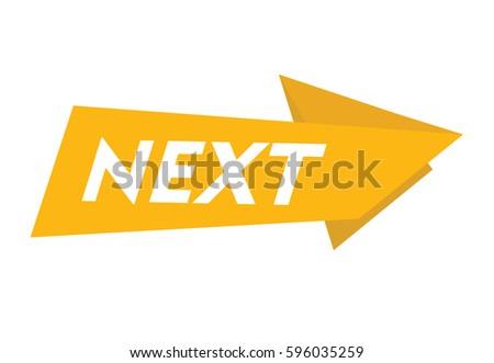 next vector banner icon arrow