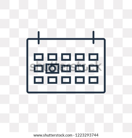 Next week vector outline icon isolated on transparent background, high quality linear Next week transparency concept can be used web and mobile