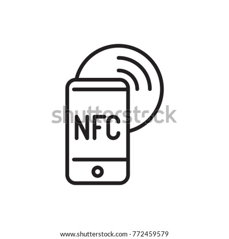nfc mobile vector icon