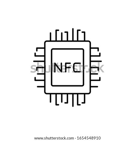 Nfc, ram, chip icon. Simple line, outline vector elements of near field communication icons for ui and ux, website or mobile application
