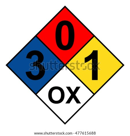 nfpa 704 diamond 3 0 1 ox sign
