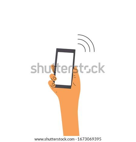nfs payment human hand holding