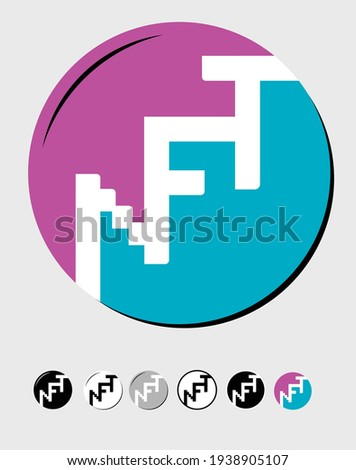 NFT- Non-fungible token can represent digital files such as art, audio, video, and other forms of creative work on a digital ledger called a blockchain, where each NFT can represent a unique digital Foto stock ©